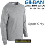 Gildan Long Sleeve T-SHIRT Sport Grey basic tee S - 5XL Men's Ultra Cotton