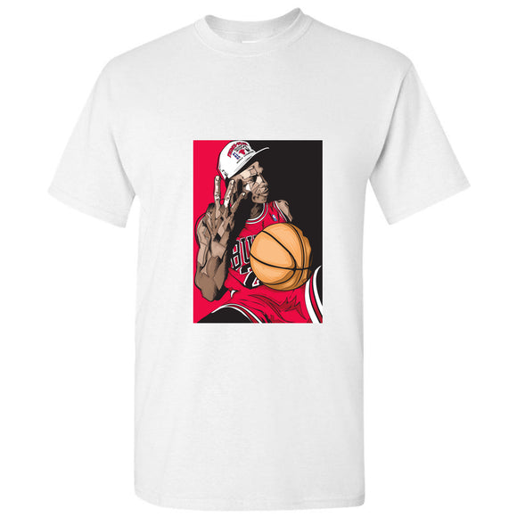 Michael Jordan 3 Peat Chicago Bulls NBA Basketball White Men T Shirt Tee S - 5XL