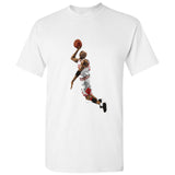 Michael Jordan Dunk Chicago Bulls NBA Basketball White Men T Shirt Tee S - 5XL