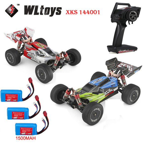 Wltoys XKS 144001 1/14 60km/h RC 4WD Off-Road Racing Buggy Car RTR + 2 Batteries