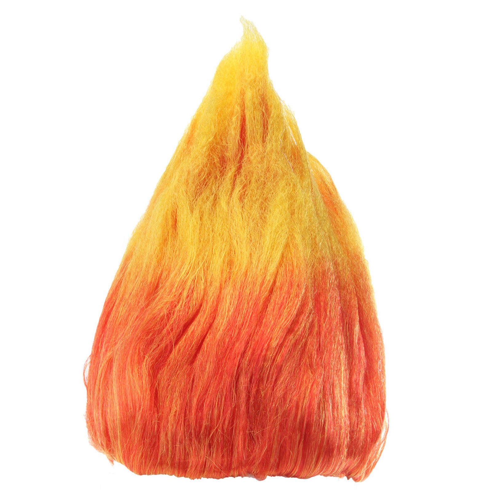 Colourful Adult Elf Troll Pixie Flame Fire Halloween Party Cosplay Fake Hair Wig