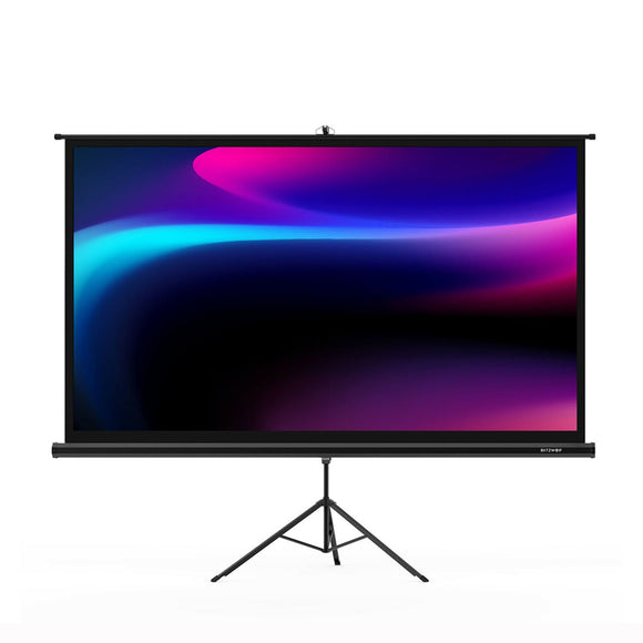 BlitzWolf BW-VS1 100 Inch Portable Outdoor Pull Down Projector Screen with Stand