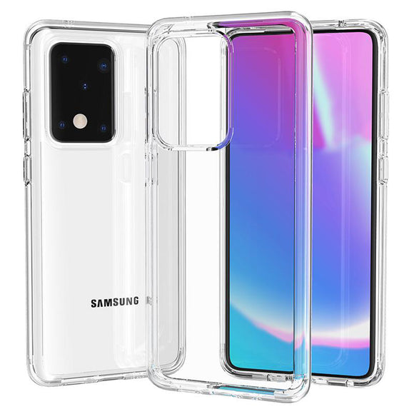 Samsung Galaxy S20 S20+ Plus S20 Ultra 5G TPU Transparent Clear Bumper Cushion Back Case Cover