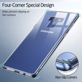 Samsung Galaxy Note 9 Clear Case Cover & Tempered Glass Front Screen Protector