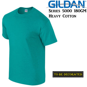 Gildan T-SHIRT Antique Jade Green Basic tee S M L XL 2XL big Men's Heavy Cotton