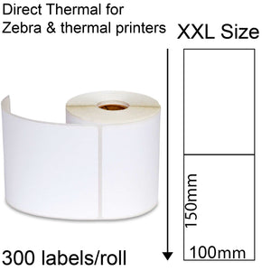 Direct thermal labels roll 100x150mm 300/roll shipping tags for Zebra printer Fastway EParcel Startrack