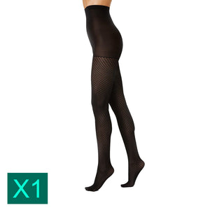 Voodoo Multi Pack Sophisticate Tight Sexy Womens Black Fishnet Pantyhose Stockings H33151 BLK Black