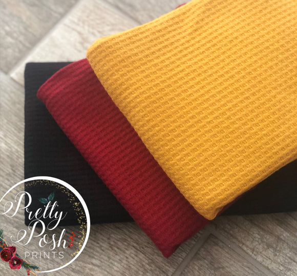 Waffle Knit Solids