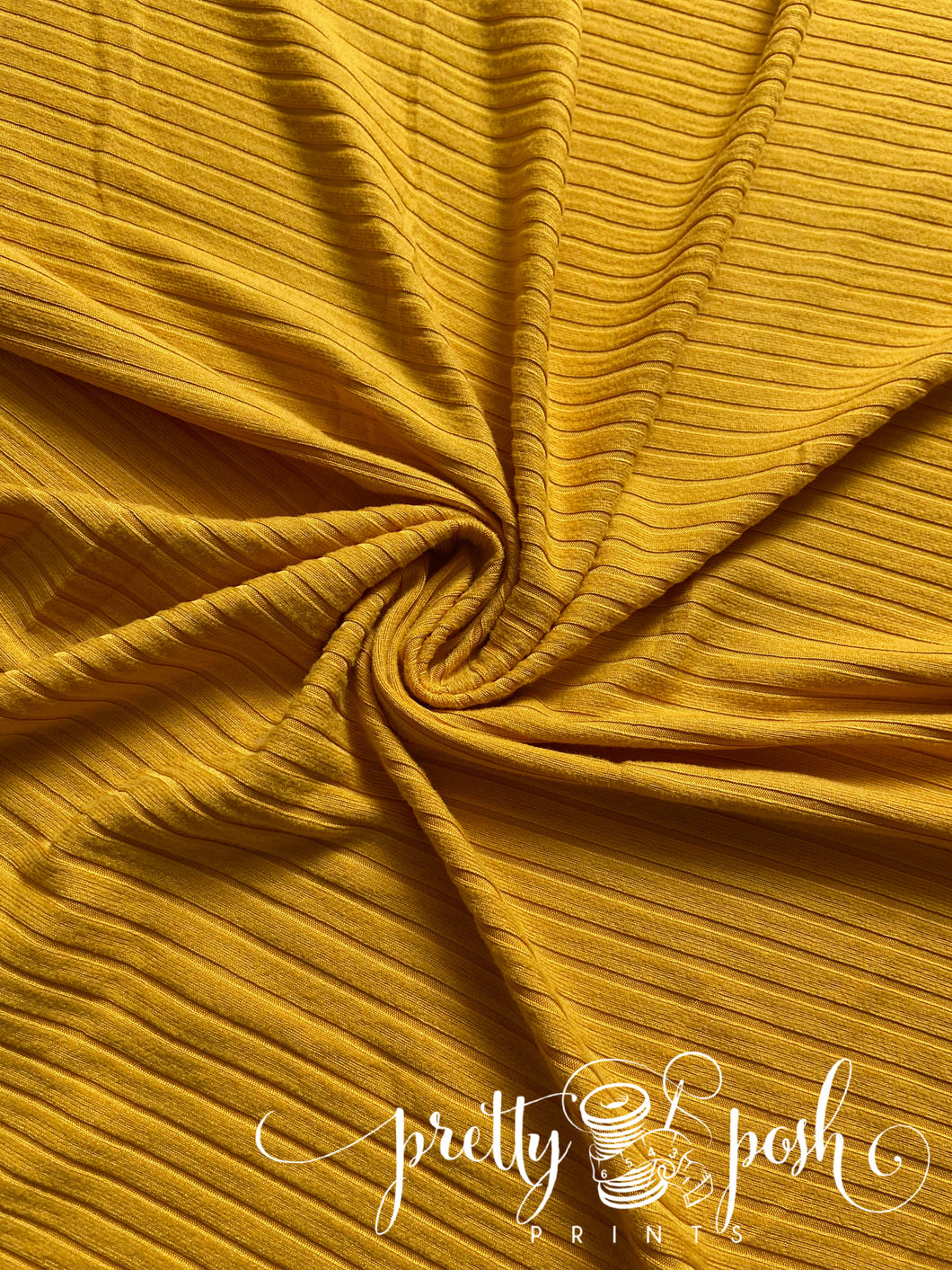 Autumn Gold Solid Rib Brushed Poly Spandex