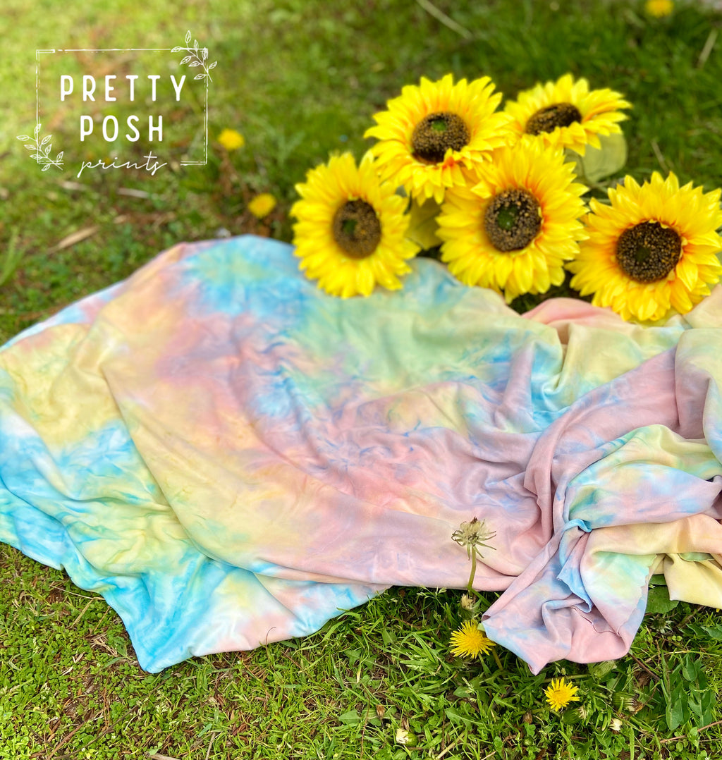 Aura Tie Dye Brushed Poly Spandex