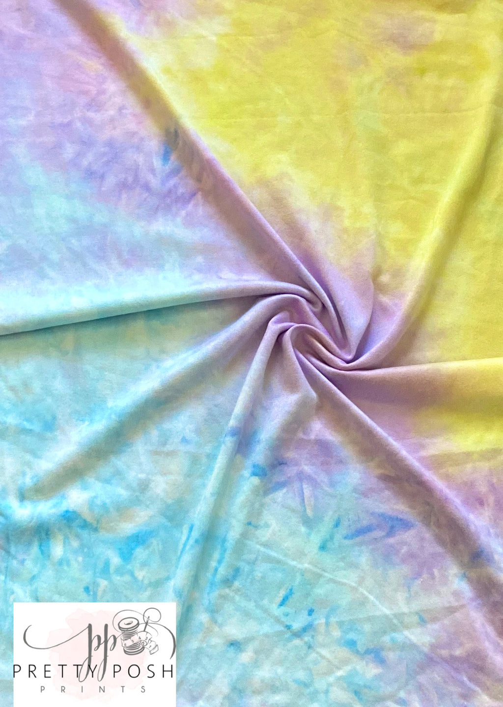 Purple Sunset Beach Tie Dye Brushed Poly Spandex