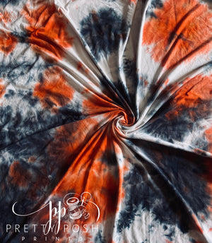 Halloween Tie Dye Brushed Poly Spandex