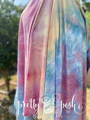 Carribean Nights Tie Dye Brushed Poly Spandex