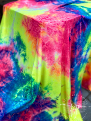 Neon Pop Tie Dye Brushed Poly Spandex
