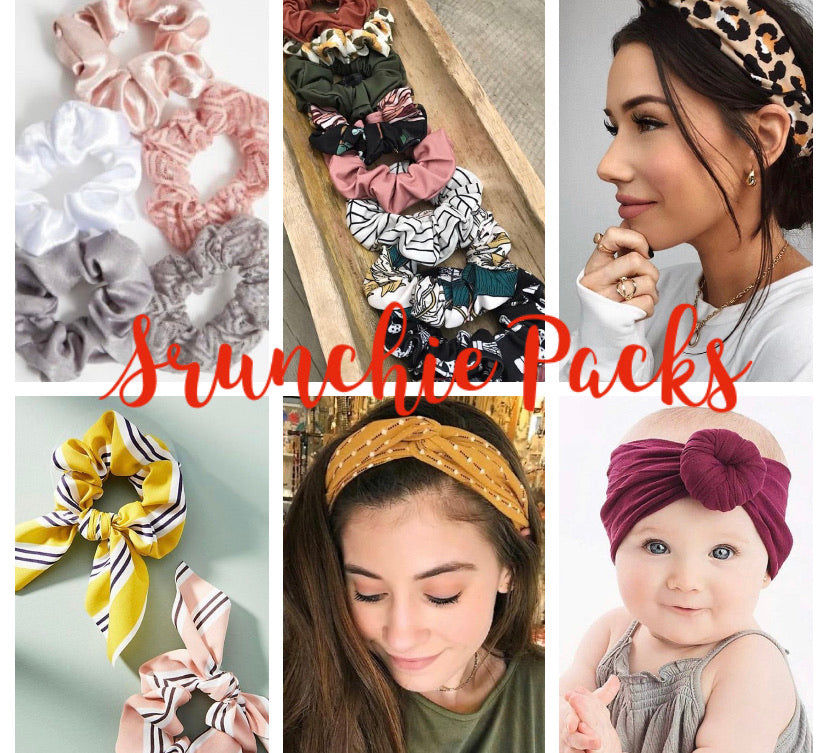 Scrunchie/Headband/Cuff Scrap Packs