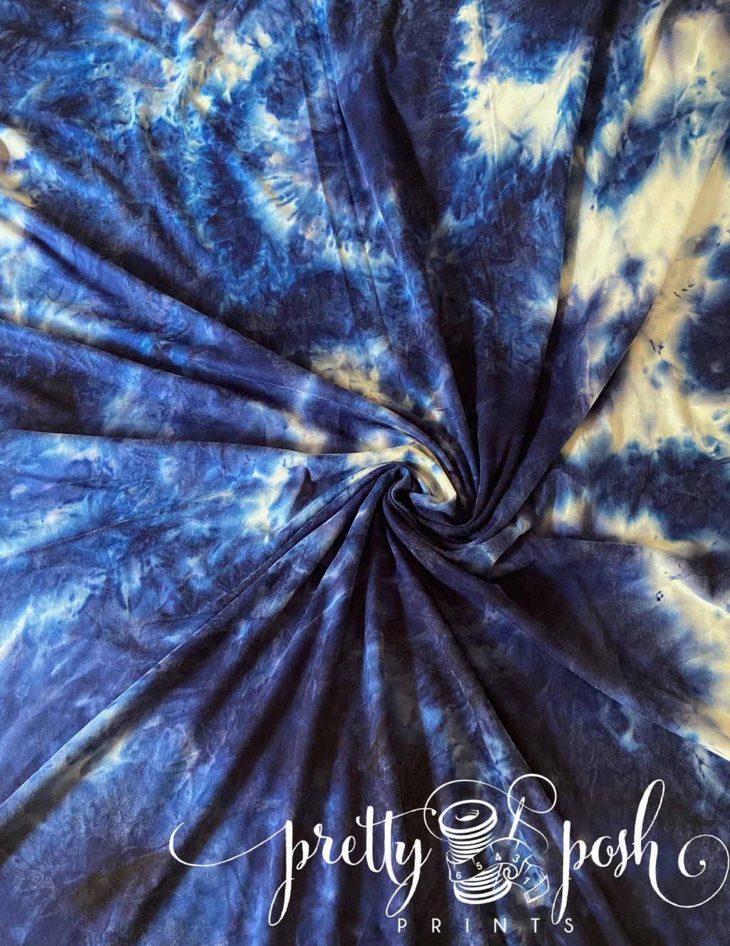 Dark Waters Tie Dye Brushed Poly Spandex
