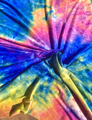 Laguna Beach Tie Dye Brushed Poly Spandex