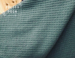 Woodland Green Brushed waffle knit
