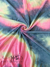 Load image into Gallery viewer, Electric Vibes Tie Dye French Terry