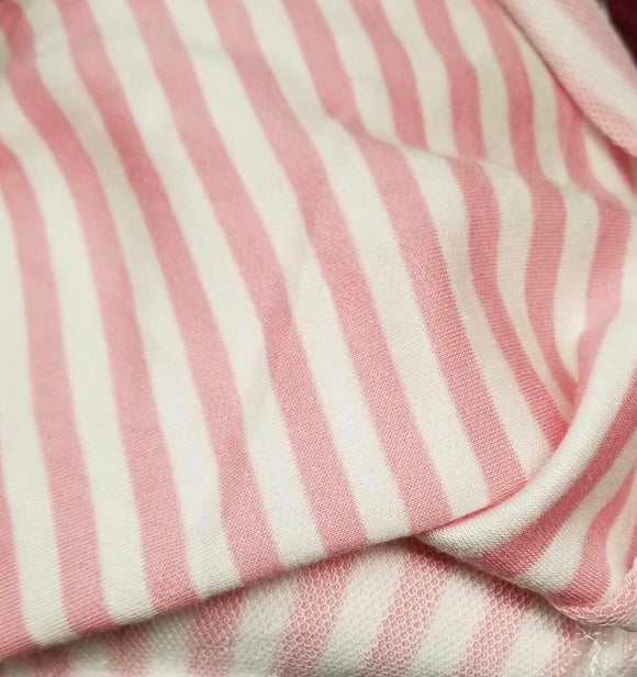 Baby Pink Stripes French Terry
