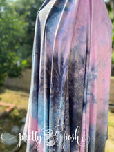 Load image into Gallery viewer, Evening Sky Tie Dye Brushed Poly Spandex