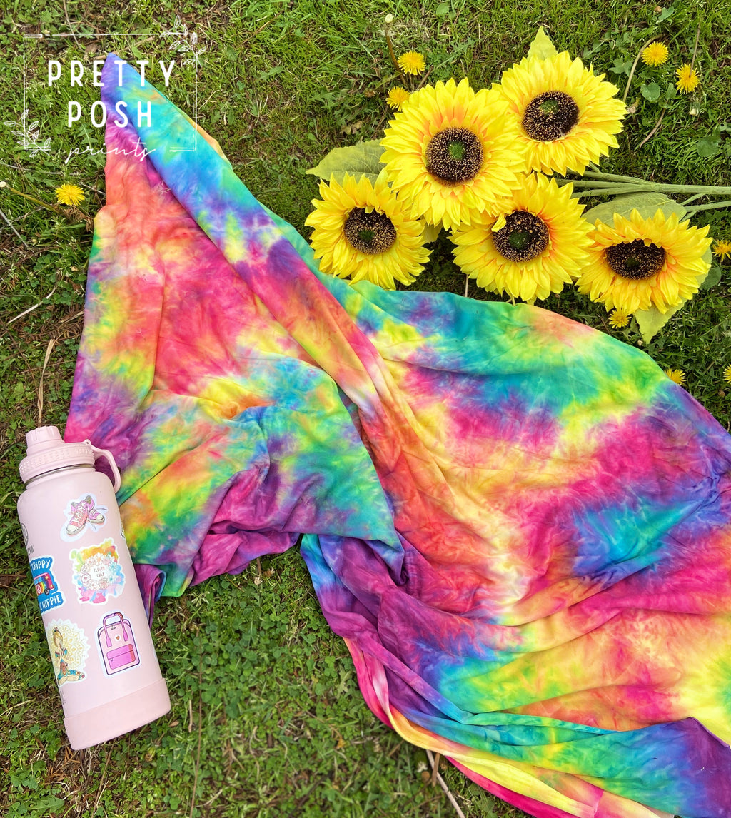 Summer Party Tie Dye Brushed Poly Spandex