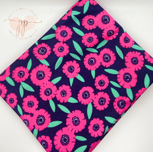 Pink Daisies Athletic Knit