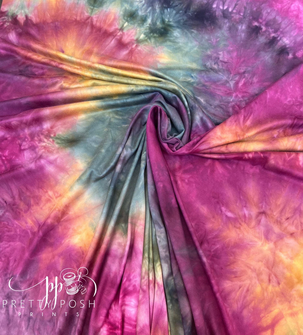 Bohemian Summer Tie Dye Brushed Poly Spandex