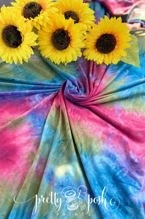 Wild Child Tie Dye Brushed Poly Spandex
