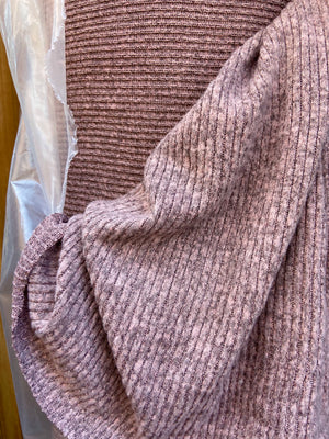 Brushed Rib Sweater Knit Solids