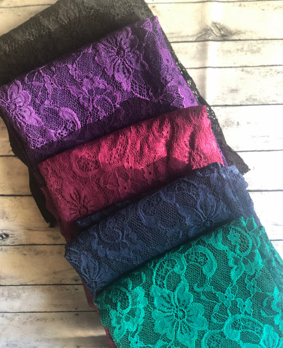 Precious Jewels Stretch Lace Solids