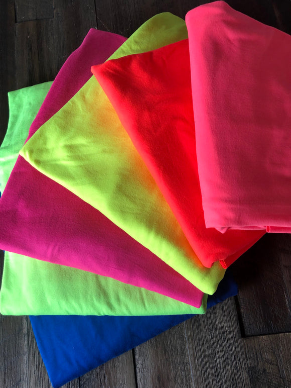 The Neon Brights Double Brushed Poly Collection