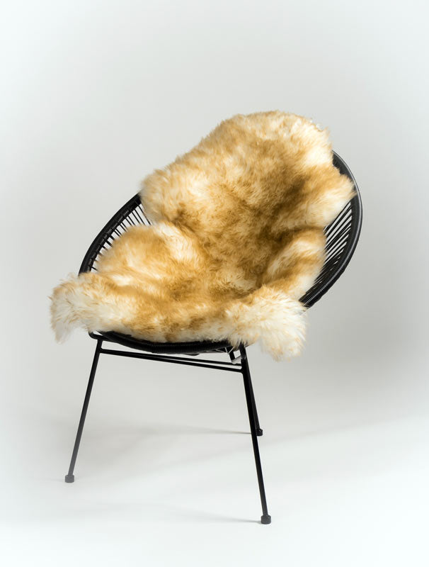 Using Sheepskin Rugs with Wire Framed Chairs