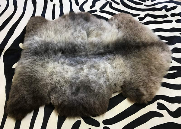 Sheepskin rug after brushing