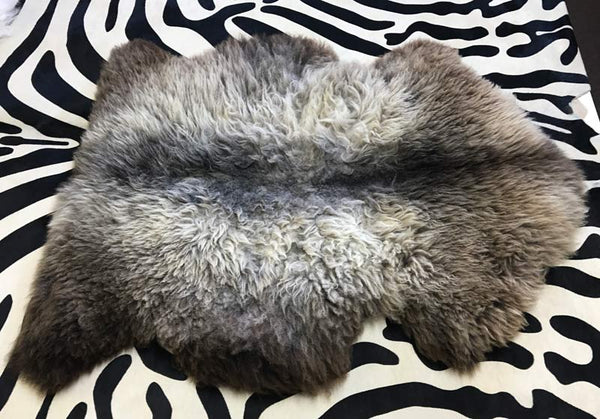 Sheepskin rug before brushing