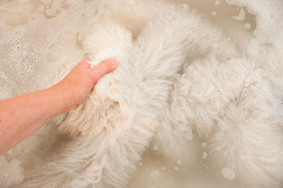 How to wash a sheepskin rug