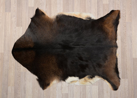 001 Natural Goat Skin - Black & Brown