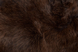 004 Natural Chocolate Brown Irish Rare Breed Sheepskin Rug