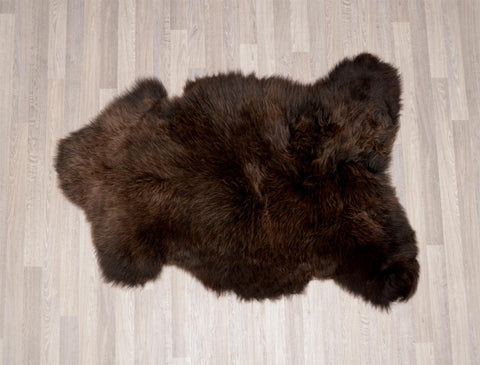 Image of Irish UK rare breed sheepskin dark chocolate brown