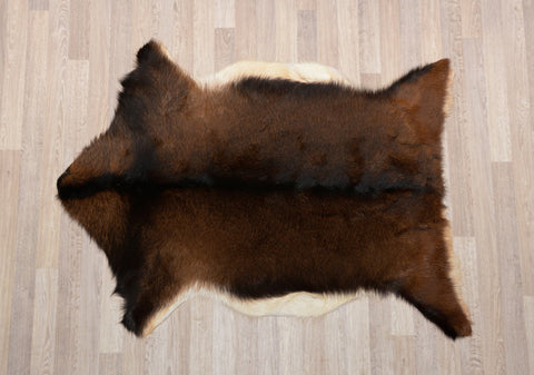 005 Natural Goat Skin - Black & Brown