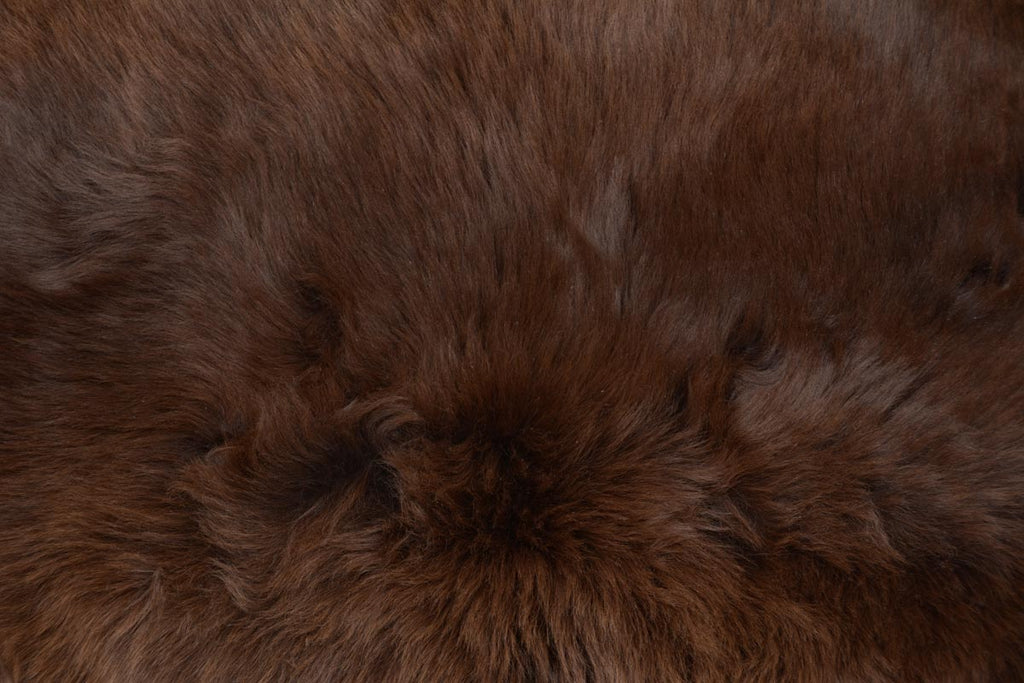 006 Natural Coffee Brown Irish Rare Breed Sheepskin Rug