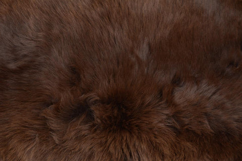 Image of Irish UK rare breed sheepskin coffee brown