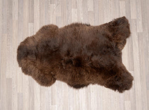 Irish UK rare breed sheepskin coffee brown
