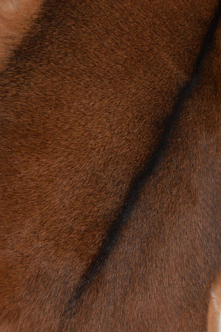 Image of 006 Natural Goat Skin - Black & Brown