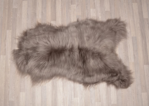 Image of Dyed Taupe Icelandic Sheepskin Throw Rug