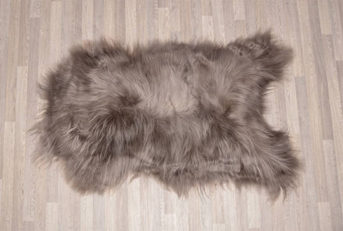 Dyed Taupe Icelandic Sheepskin Throw Rug