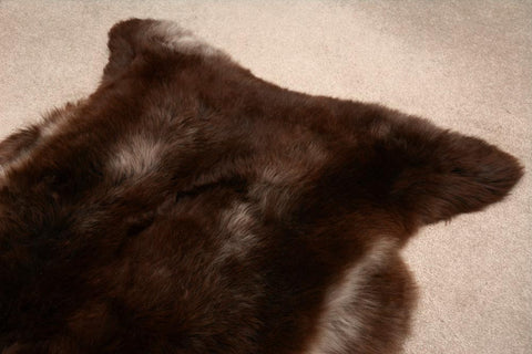 Natural Mocha Chocolate NZ Rare Breed Sheepskin Rug