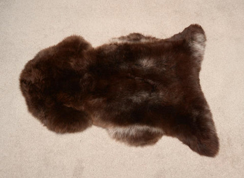 Image of Natural Mocha Chocolate NZ Rare Breed Sheepskin Rug