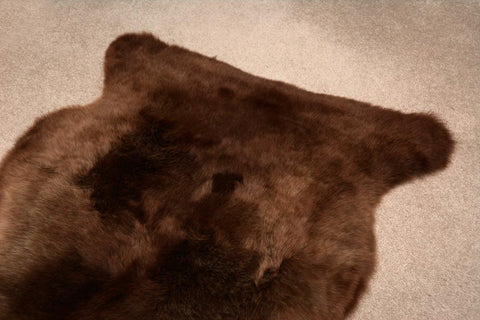 Natural Coffee Brown NZ Rare Breed Sheepskin Rug