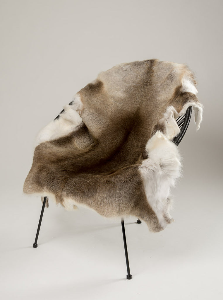 Reindeer skin throw